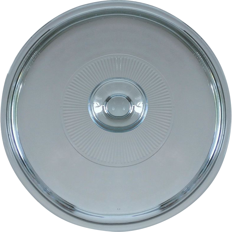 Pyrex G-1-C Lid w Ribbed Center