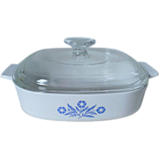 Corning Cornflower Blue 2 Qt. Casserole with A-9-C Lid