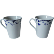 Johnson Brothers Denmark - Blue Beaker / English Mug Set