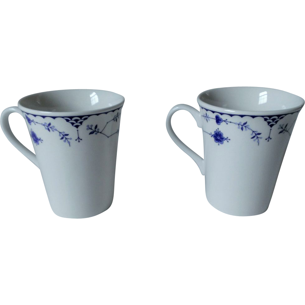 Johnson Brothers Denmark - Blue Beaker / English Mug Set