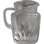 Vintage Federal Star Pattern Qt. Glass Pitcher