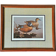 Randy McGovern Signed & Framed Blue-winged Teal Print