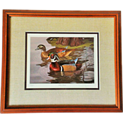 Randy McGovern Signed & Framed Wood Ducks Print