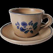 Pfaltzgraff Folk Art Cup and Saucer Set