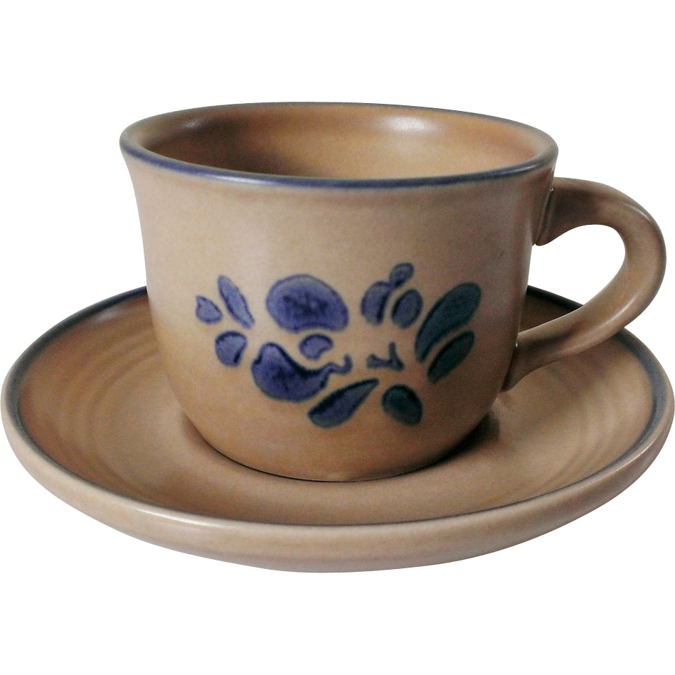Pfaltzgraff Folk Art Cup and Saucer Set