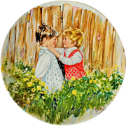"Wedgwood Mary Vickers ""Be My Friend"" 1981 Queen's Ware Plate"