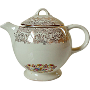 USA Liberty Gold Teapot 22K Gold Filigree Floral Center