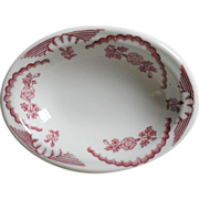 Walker China Red Floral Vegetable Dish