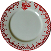 Comptoir de Famille Damier-Red Salad Plate