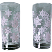 Snowflake Holiday Glass Set