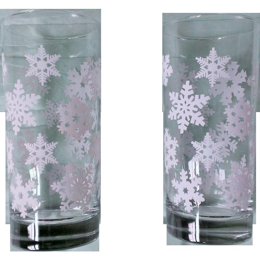 Snowflake Holiday Glass Set