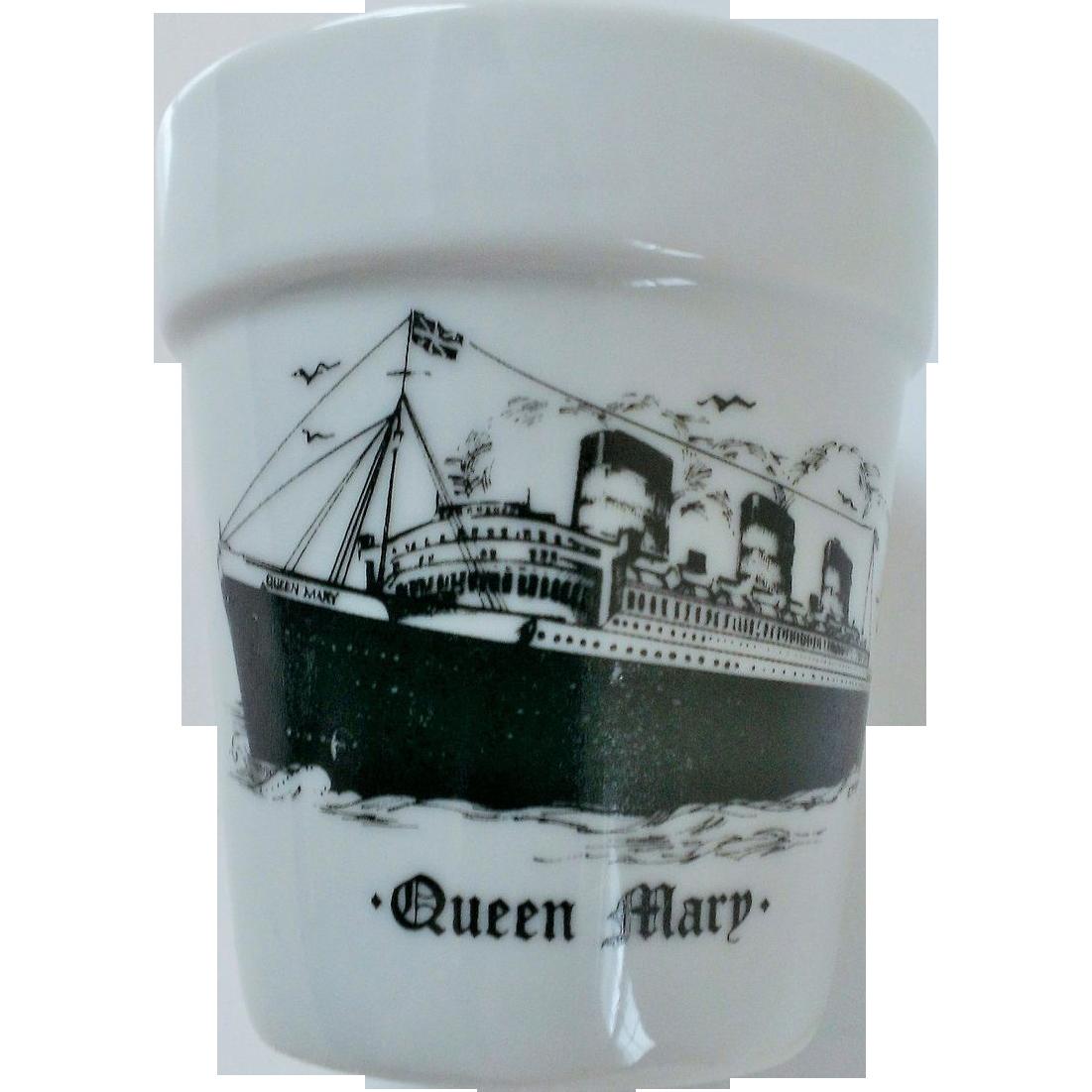 Queen Mary Flower Pot Ship Souvenir