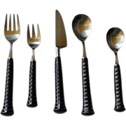 Noritake Primastone Plum  5 Pc. Stainless Flatware Set