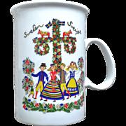 Allan Flink Souvenir of Sweden Mug