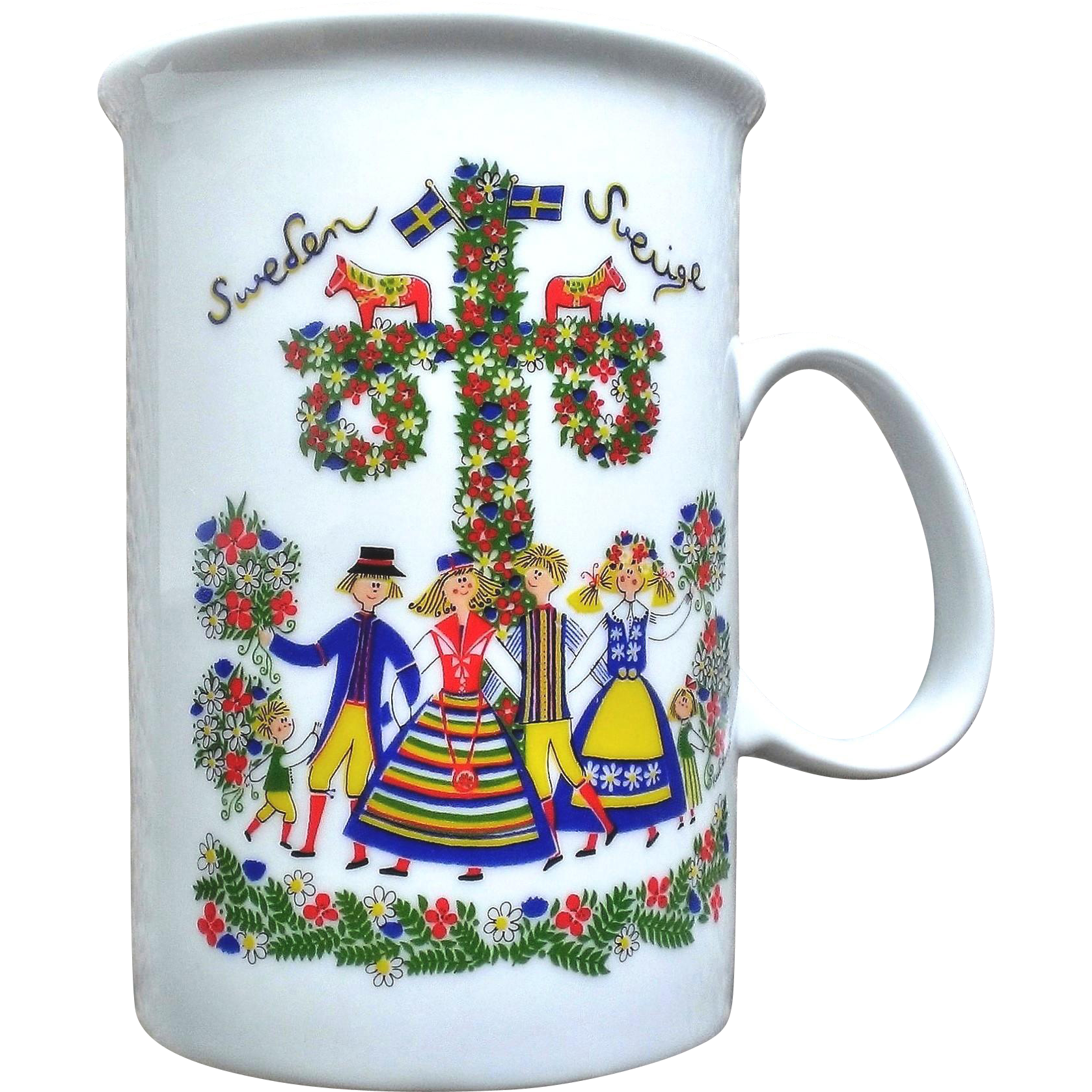 Allan Flink Souvenir of Sweden Mug