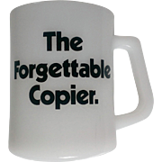 Vintage Federal Milk Glass Mug The Forgettable Copier