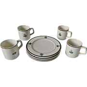 Homer Laughlin Golf Club Design Restaurant Ware 8 Piece Set