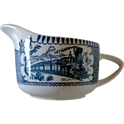 Royal China Currier & Ives Blue Creamer