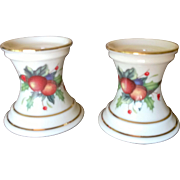 Lenox China Holiday Tartan Candle Sticks
