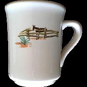 Syracuse China Mug Sundown Pattern