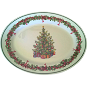 Christopher Radko Holiday Celebrations Oval Platter