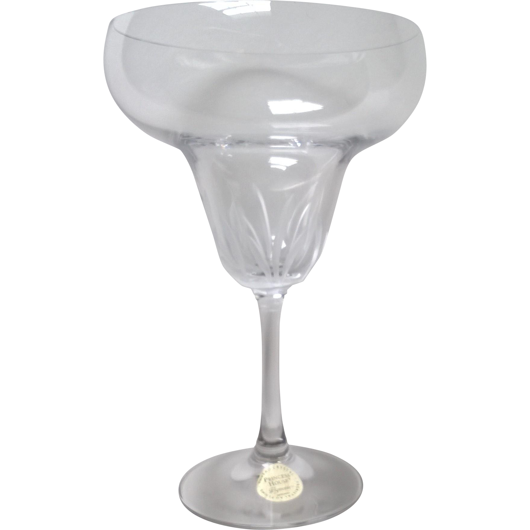 Princess House Vignette Pattern Margarita Glass
