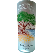 Libbey Monterey Cypress California Souvenir Highball  Glass 50's - 60's