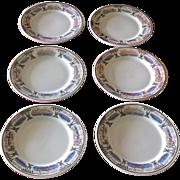 Rare Hotel Vinoy Restaurant Ware Bread Plate Set