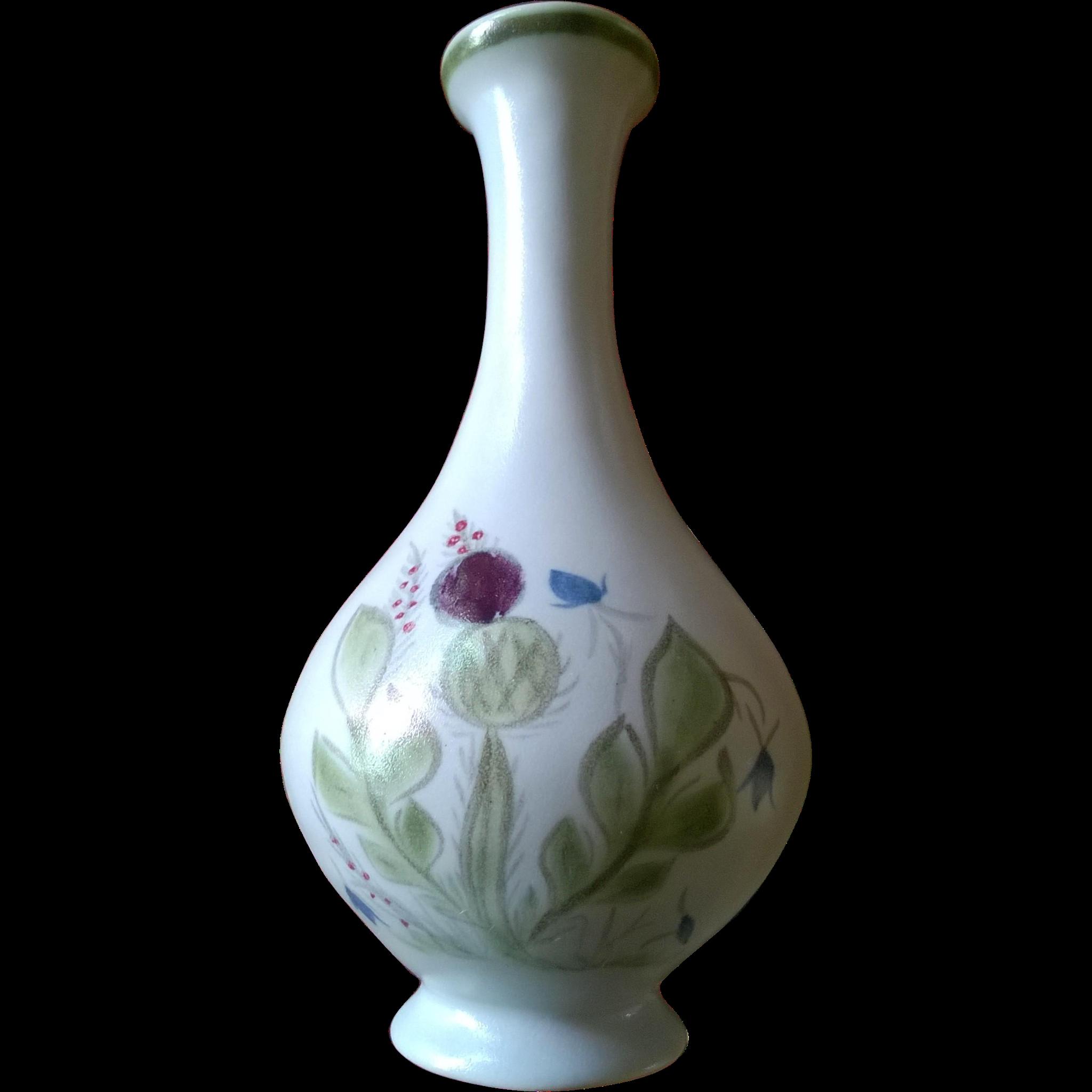 Buchan Pottery Thistleware Bud Vase