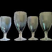 Fostoria Debutante Grey Stemware Set