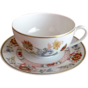 Haviland Limoges Cathay Cup & Saucer Gold Trim