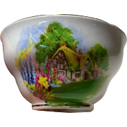Melba Fine Bone China Old English Village Open Sugar #544