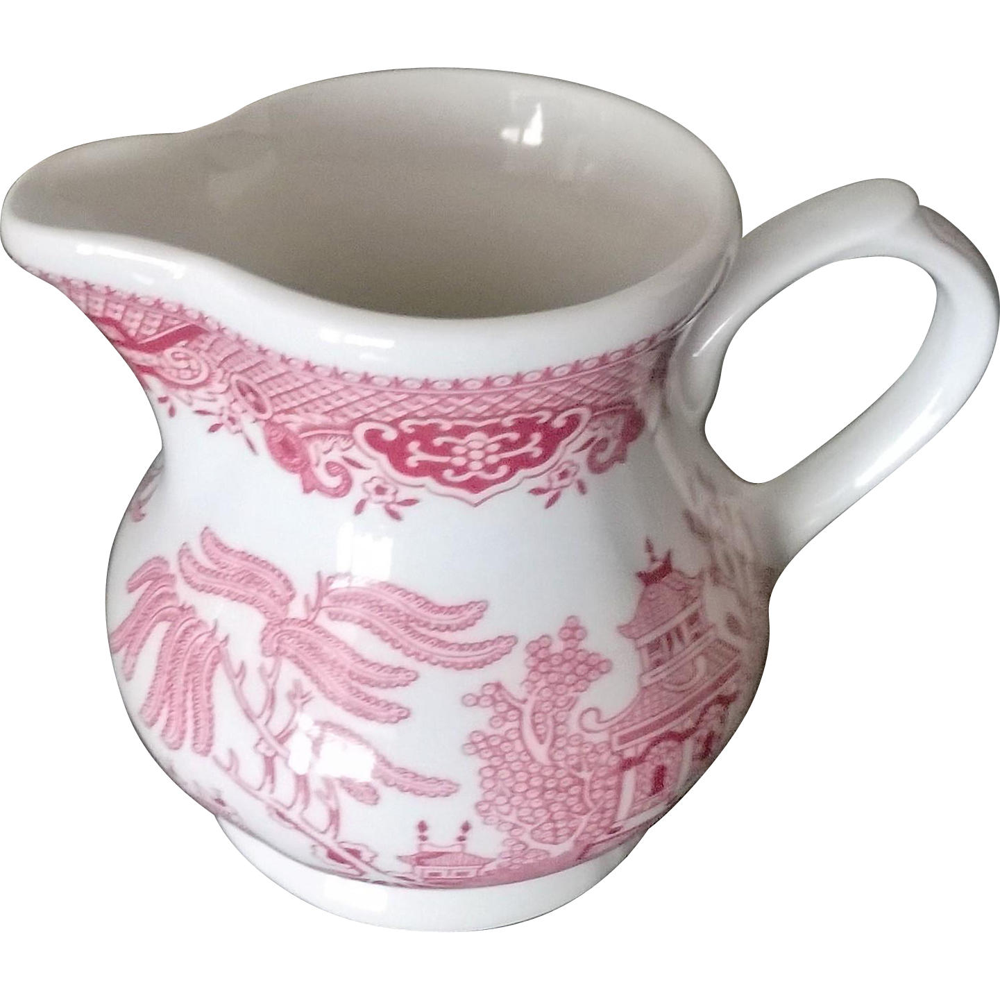 Churchill Willow Rosa Pink Creamer