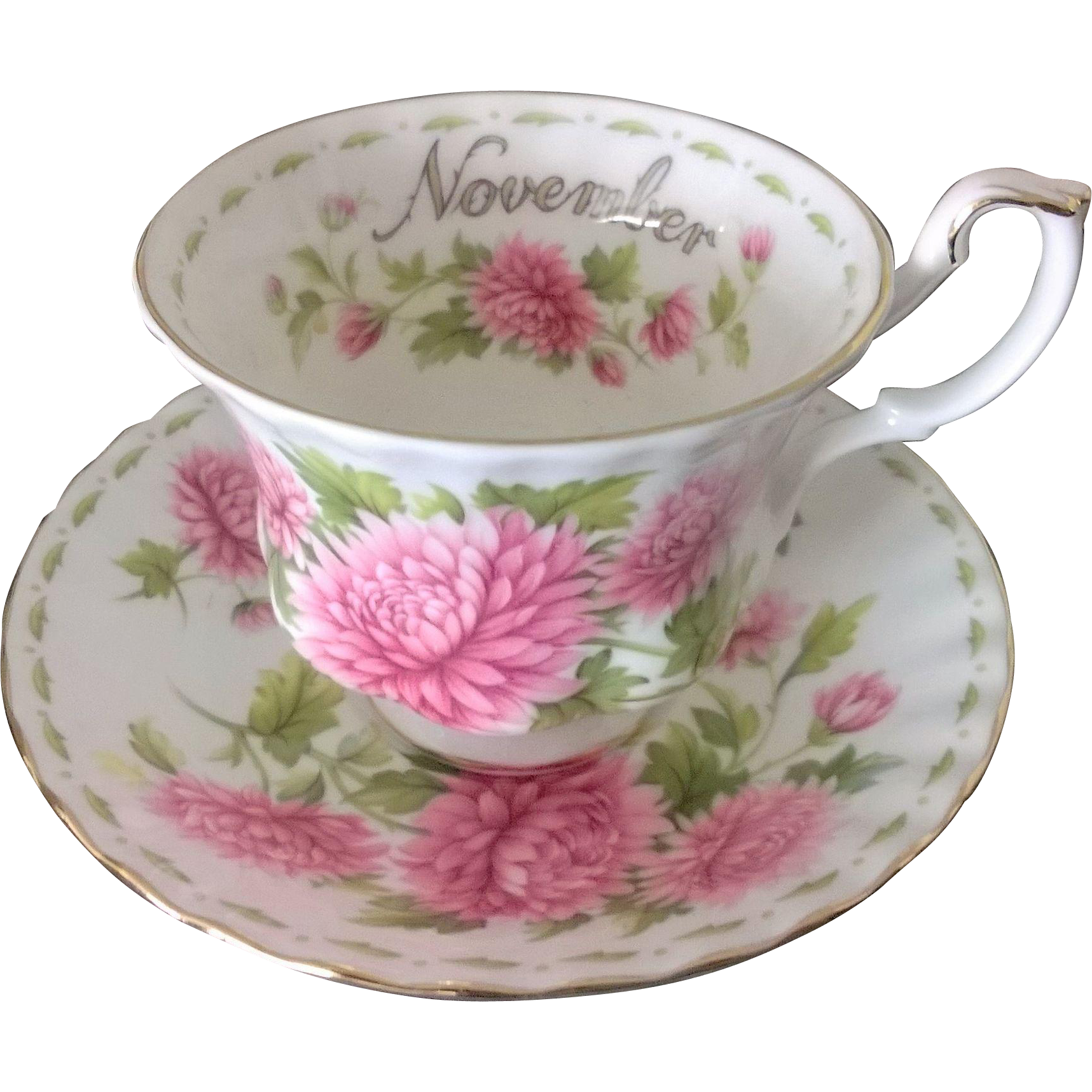 Royal Albert Flower of the Month November Cup & Saucer
