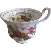 Royal Albert Flower of the Month December Christmas Rose Trio Set