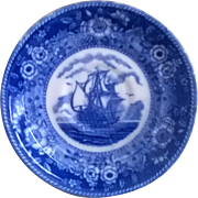 Blue Mayflower Japan Saucer