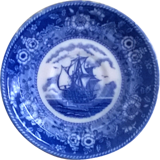 Blue Mayflower Japan Saucer