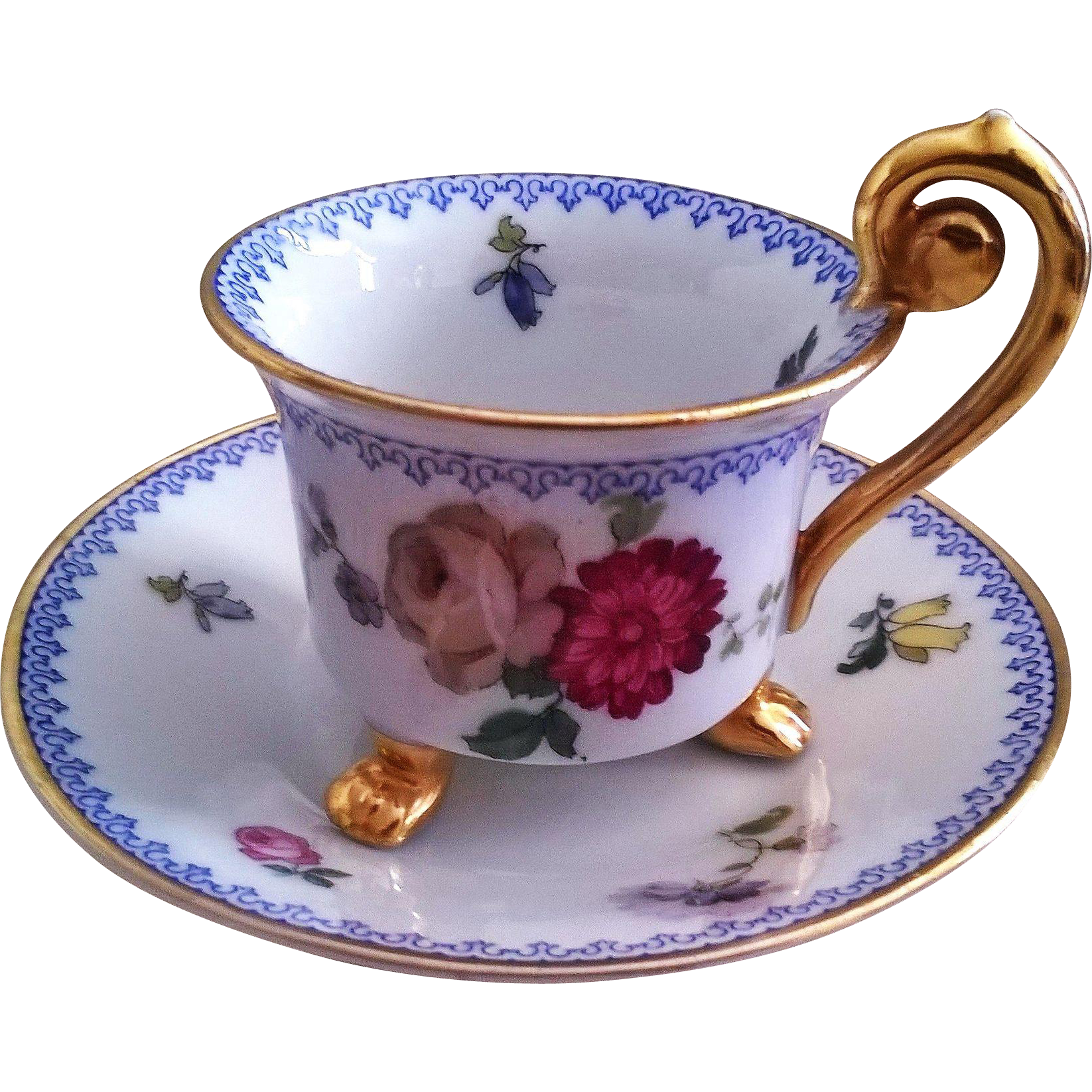 Thomas of Bavaria Footed Demitasse Cup & Saucer Pattern #3239