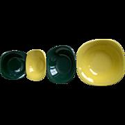 Metlox Poppytrail Shoreline Cereal Bowl Set