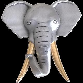 Vintage J.J. Elephant Brooch