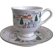 Sango China Silent Night Cup & Saucer Set