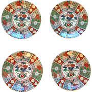 Gumps Imari Fan Salad Plate Set