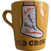 "Vintage ""Old Crow"" Bourbon Broken Leg Mug"