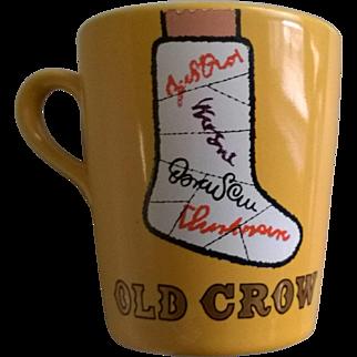 "Vintage ""Old Crow"" Bourbon Broken Leg Mug"