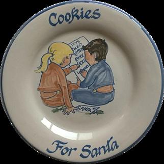 "Louisville Stoneware ""Cookies for Santa"" Plate"