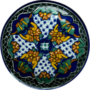 Mexican Talavera Plate Virgilio Perez
