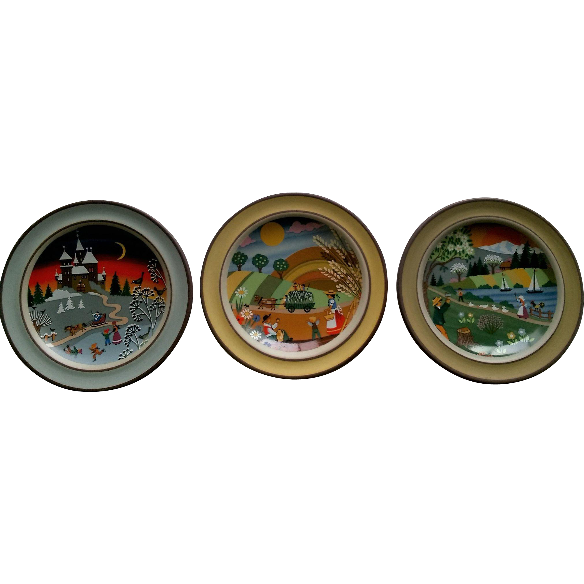 Schramberg SMF Decorative Folk Art Plate Set