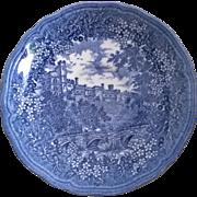 J & G Meakin Merrie England Blue Saucer