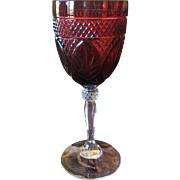 Cristal D'Arques-Durand Antique-Ruby Water Goblet