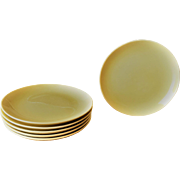Iroquois Casual Lemon Salad Plates by Russel Wright